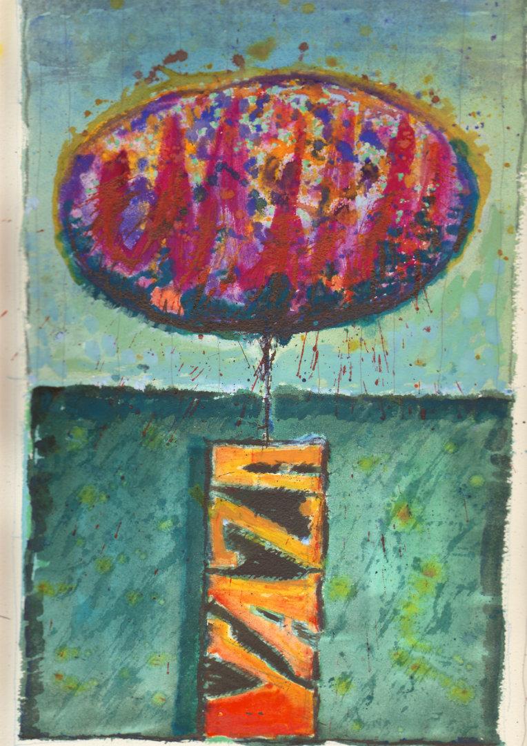 Vaza   1979, akvarel na papirju, A3