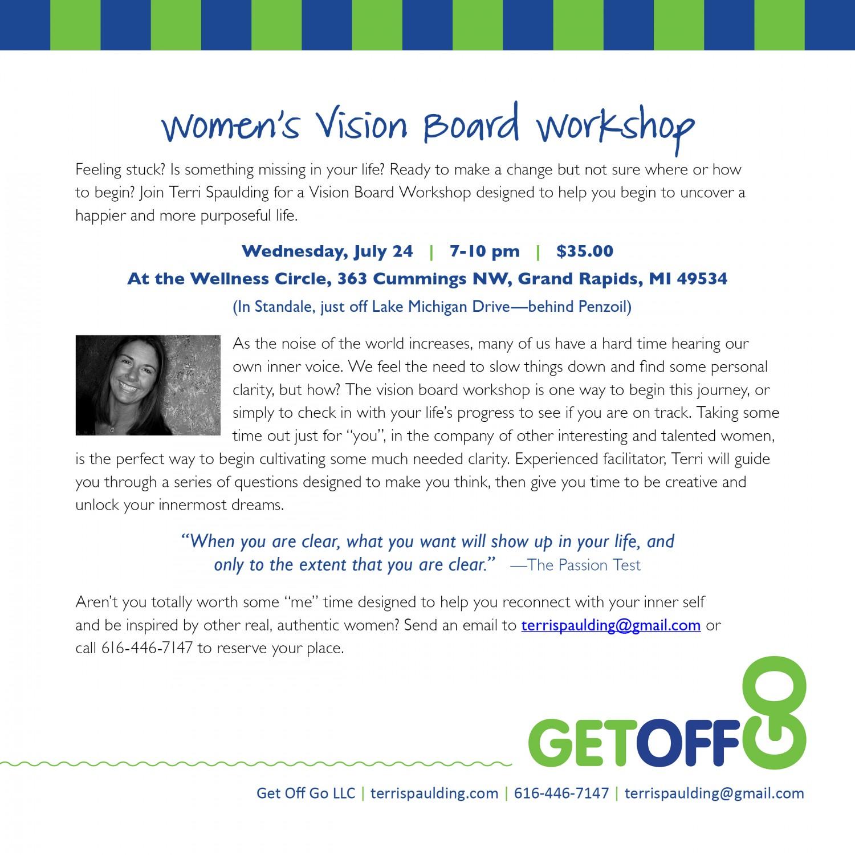Get Off Go Vision Board Workshop