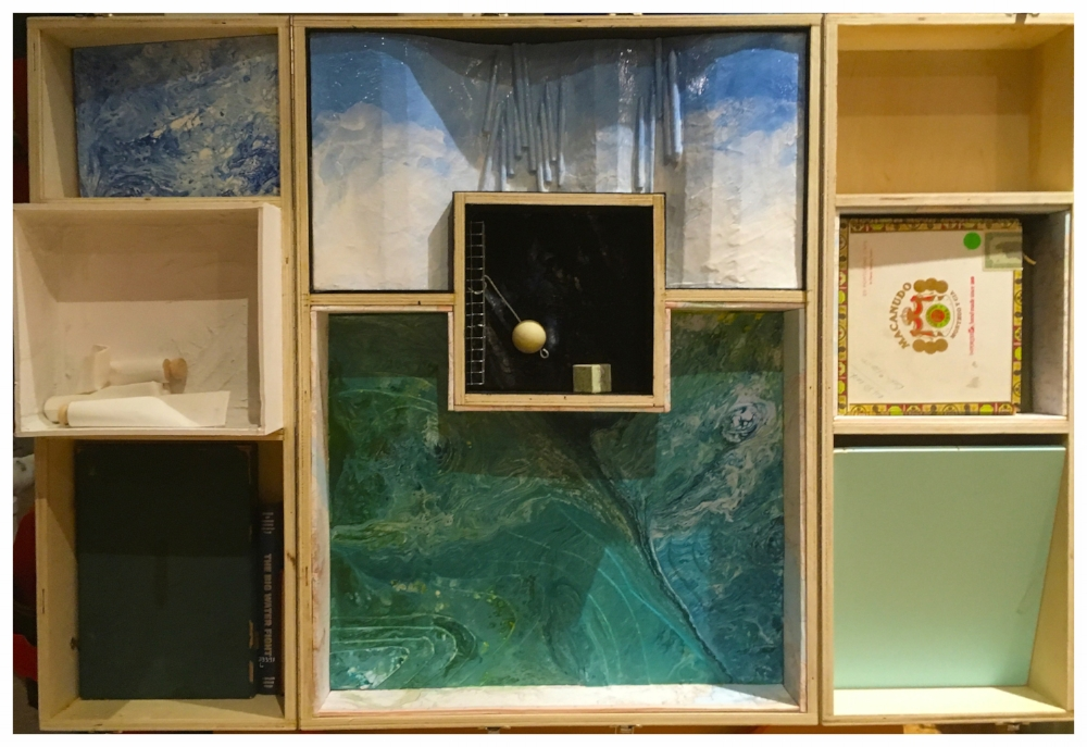 There is one element here that is straight-up an homage to Joseph Cornell.