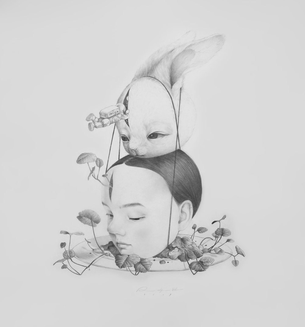 Roby Dwi Antono, DAWN AND DEW, 2017, drawing on paper, 42 x 38 cm.JPG