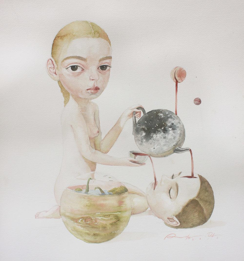 Roby Dwi Antono, FOUNTAIN, 2017, watercolor on paper, 42 x 38 cm.JPG