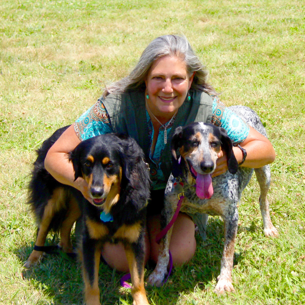 Diana with dogs