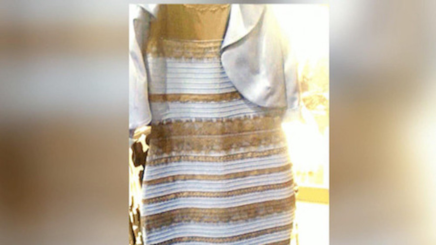 It's not funny anymore. It's white and gold.