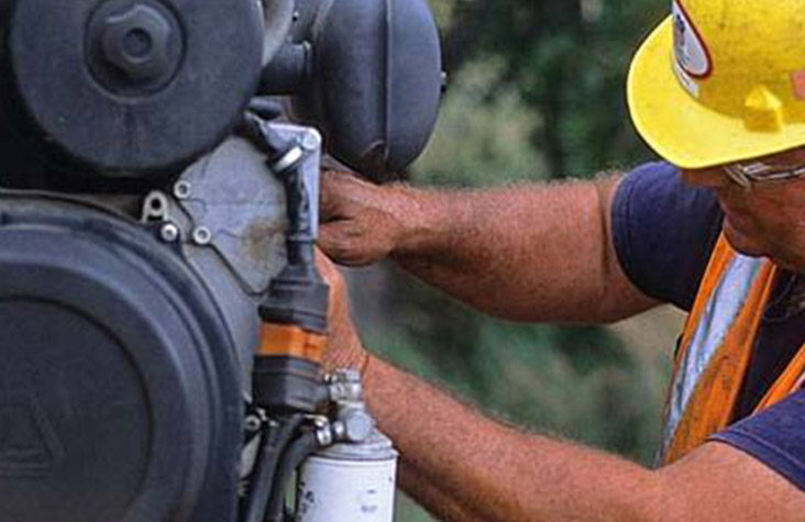 heavy equipment mechanic - Heavy equipment mechanics repair and maintain big machines and heavy-duty equipment in the logging industry.