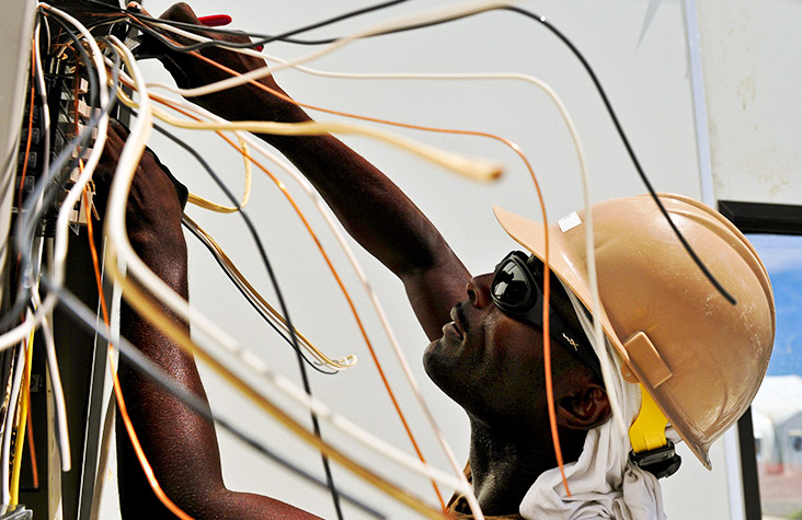 industrial electrician - Industrial electricians install, maintain, troubleshoot and repair industrial electrical equipment and associated electrical and electronic controls.