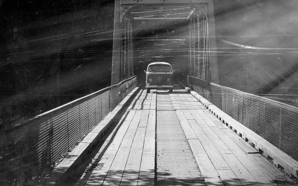 Bus crossing bridge b:w.jpg