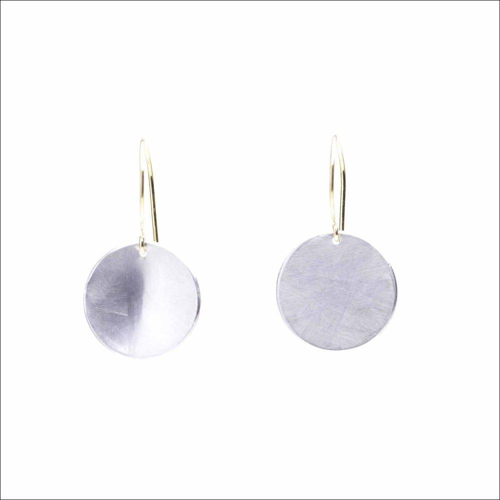 Sterling Silver drop earring with Gold Vermeil ear hooks. shop in earrings