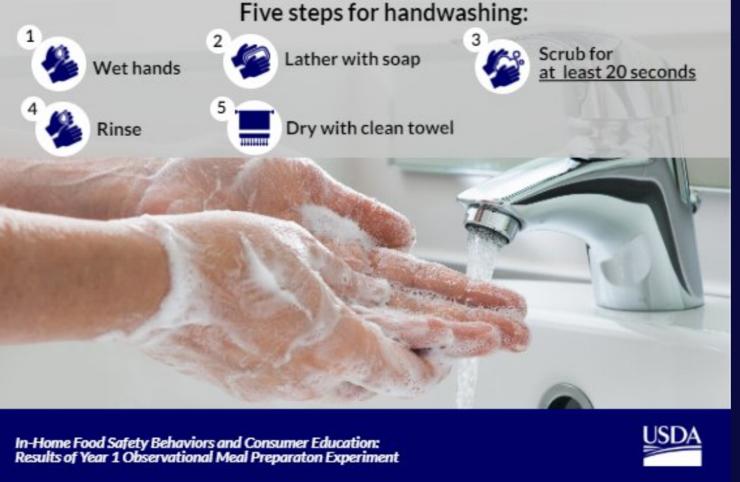 Follow the USDA approved handwashing tips to be a handwashing hero!