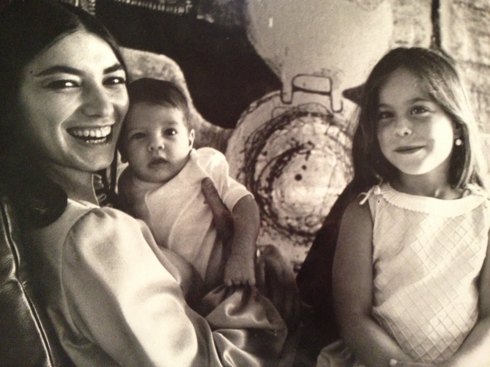 1969, with her kids.