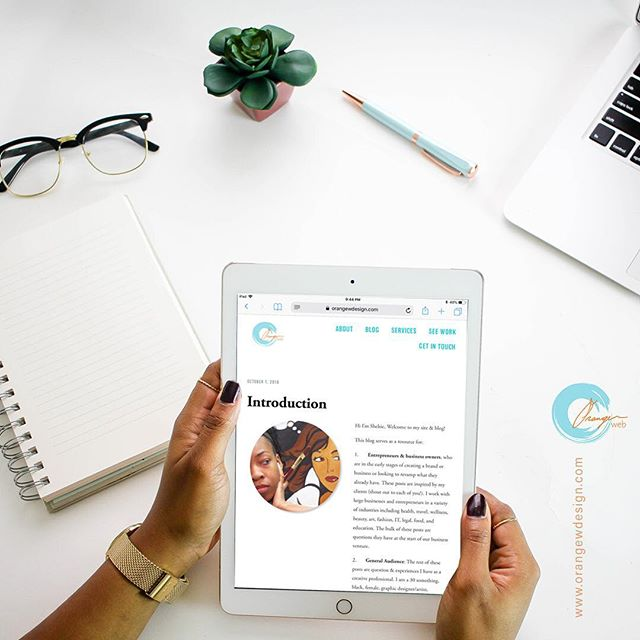 Introducing: Orange Web Design Blog⠀ (link in bio)⠀ This blog is inspired by the FAQs I get from my clients. It serves as a resource for Entrepreneurs, business owners, and creatives. ⠀ As well as my experience being a 30 something, black, female, graphic designer/artist, and entrepreneur living in Huntsville Alabama. If you also fall into one, some, or all of these categories, tune in and comment!⠀ ⠀ #savvybusinessowner #shemeansbusiness #lifeofanartist #freelancedesigner #graphicdesigncentral  #creativepreneur #strategy #branding #brandingdesign #brandidentity #womeninbusiness #visual #thedesigntip  #graphicdesign #graphicdesigner #webdesign #HuntsvilleAL⠀