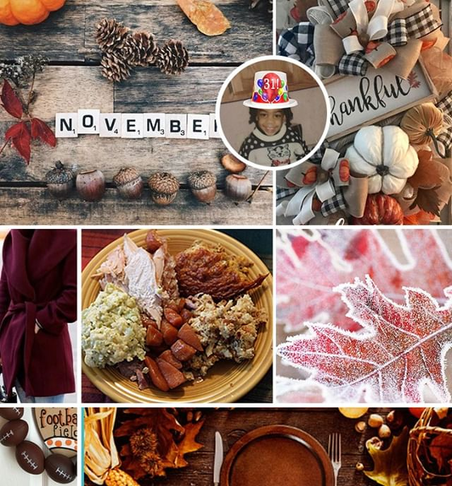 Mood. Best meal of the year & my B-Day! Hello November! 😋🎉🍂 #issamood #moodboard #october#freelancedesigner#graphicdesigncentral #creativepreneur #womeninbusiness #visual