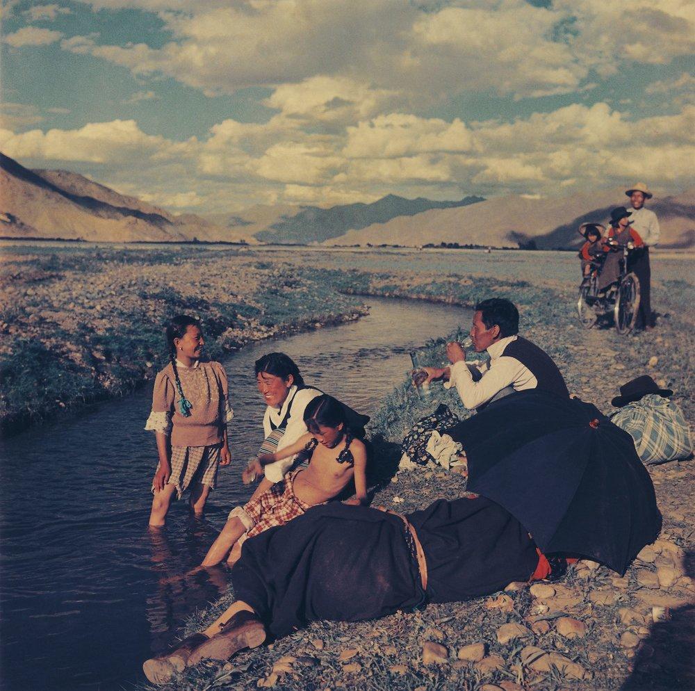 蓝志贵, 沐浴节在拉萨郊外