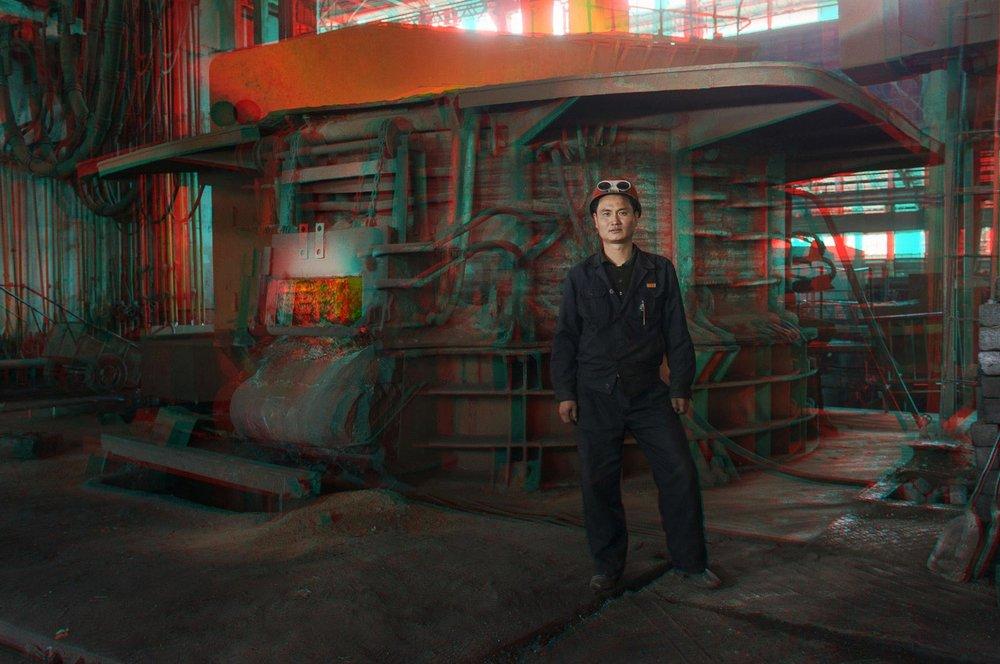 《WON IL MYONG, 38岁,锅炉工,千里马锅炉厂》  ©老马&高丽工作室