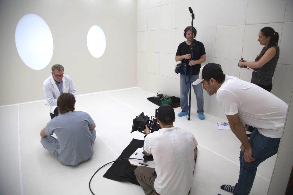 Hello - on set