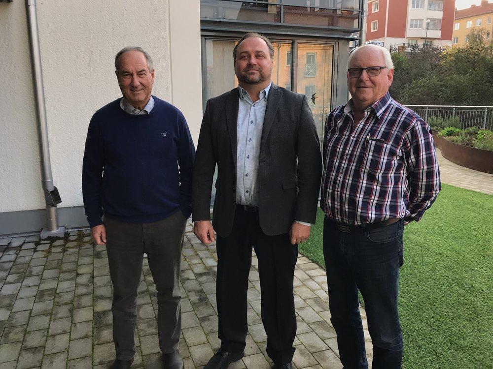 Från vänster Ordförande Jan-Erik Dahl, VD Håkan Westerlund, Vice Ordförande Christer Larsson