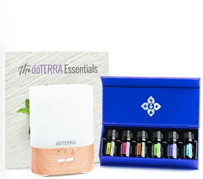 Essential aromatics diffused kit €251 - 5 ML BOTTLES:MotivateCheerPassionForgiveConsole PeaceOTHER PRODUCTS:Lumo DiffuserdōTERRA Essentials Booklet