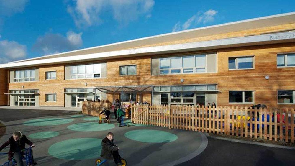 Bushbury School - RIBA Award (Regional) - Sustainability Award (regional) - Wolverhampton Environmental Awards - Commendation 2012Passivhaus Trust - Non domestic - Winner 2012Architect - Architype