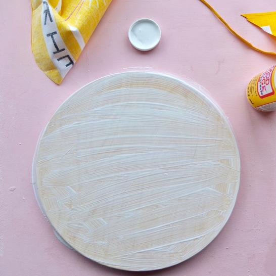 Easy IKEA hack Vintage Tea Towel Stool cottonclara.com