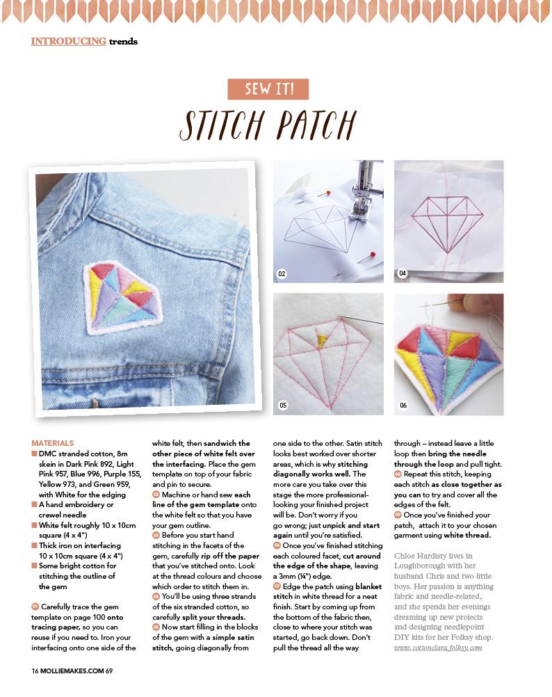 Stitch Patch Cotton Clara Feature