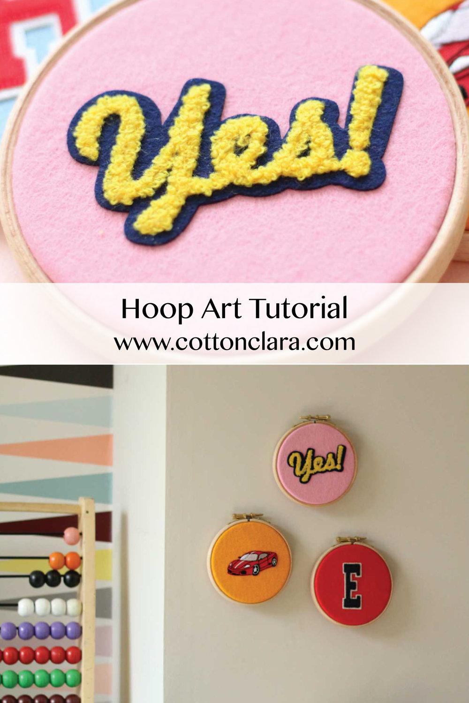Hoop Art Tutorial by Cotton Clara
