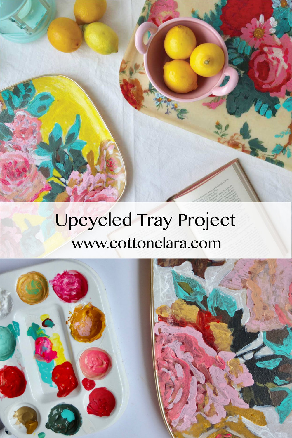 Upcycled Tray Project by Cotton Clara
