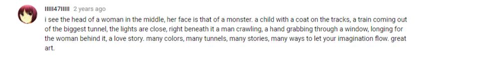 Youtube comment on Tabula Rasa