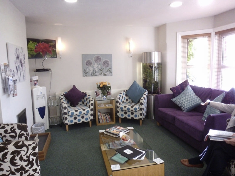 Titchfield Dental Health comfy patient waiting room