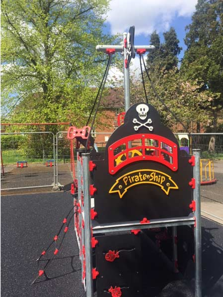 Pirate playground equipment