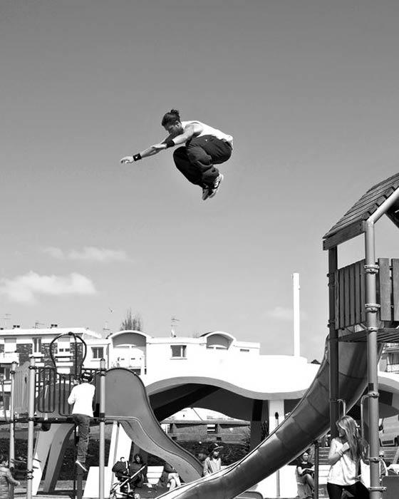 Parkour jumping