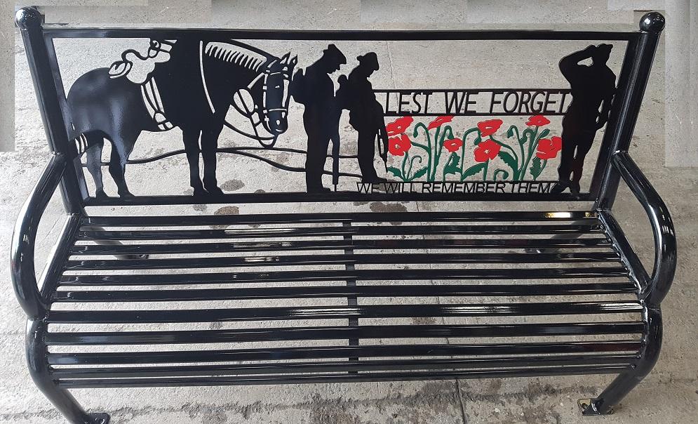 War Horse bench seat.jpg