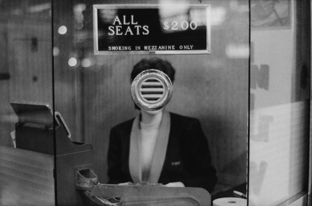 Movie Theater Booth, Times Square, New York City, 1963.