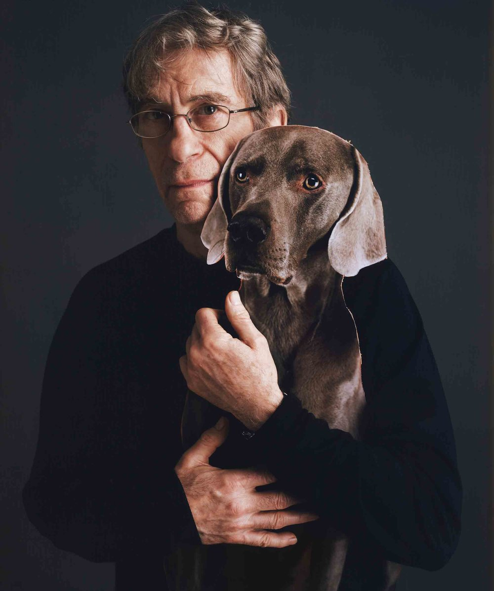 William Wegman and his dog Bobbin © Tim Mantoani