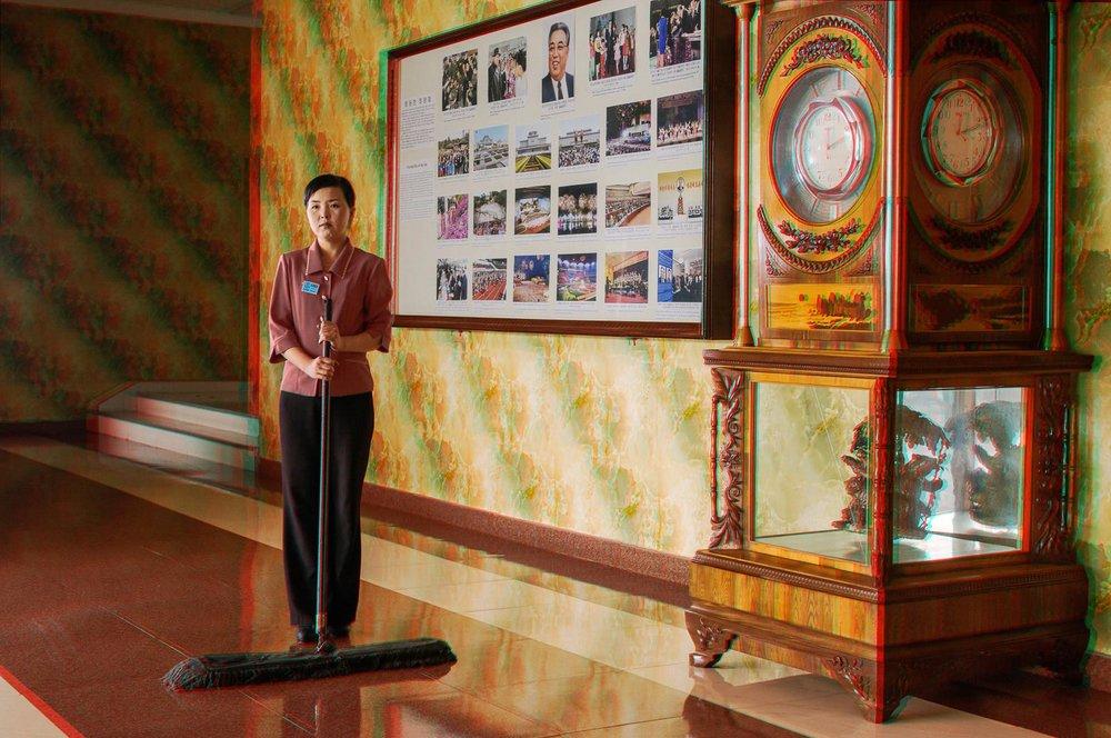 SON KUM JU, 29, Cleaner, Sinhungsan Hotel, Hamhung  © Matjaž Tančič with Koryo Studio