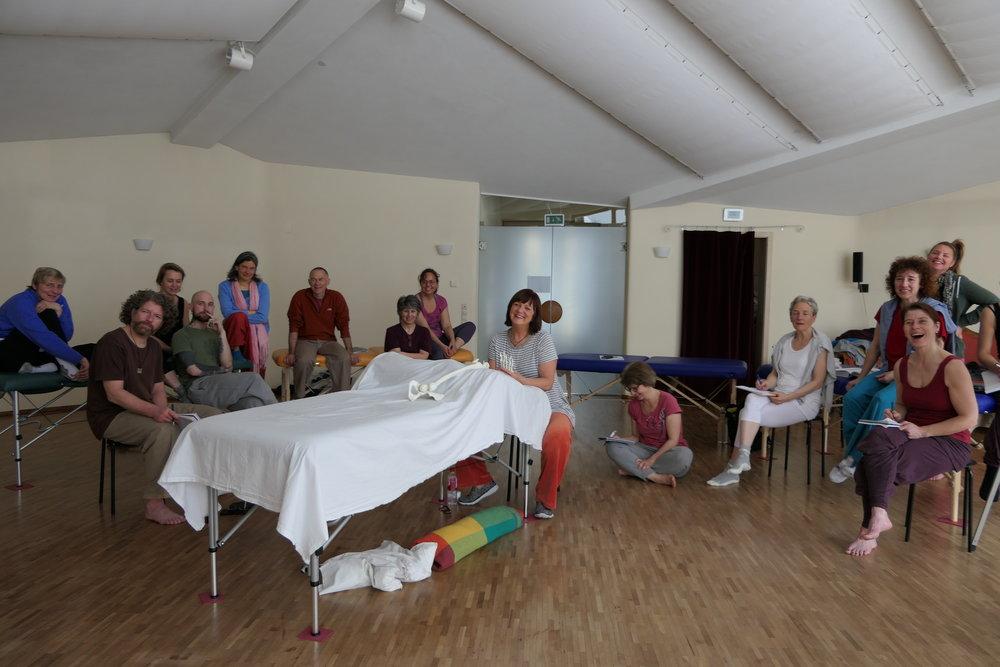 Ingrid May, 3. Block Esalen Massageausbildung Europa im März 2017 in Hollerbühl