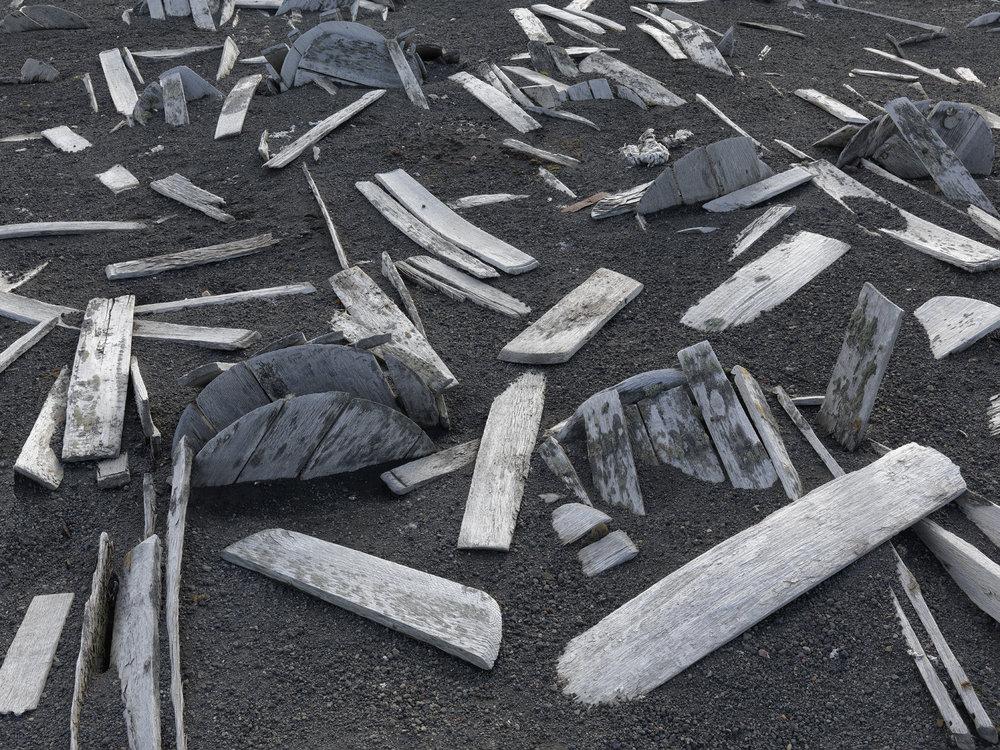 Remains of Whale Oil Barrels, Deception Island, Antarctica 2016