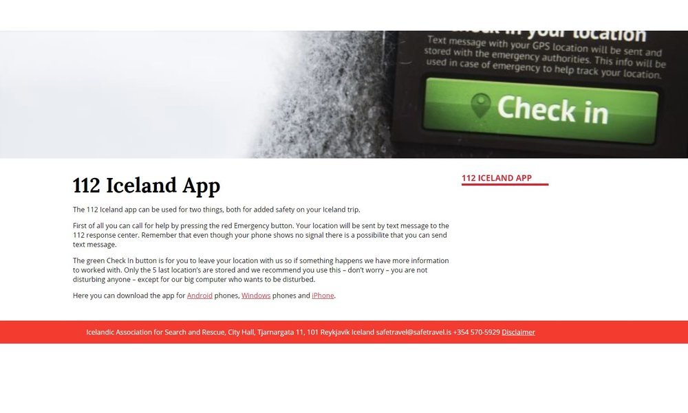 112 Iceland App