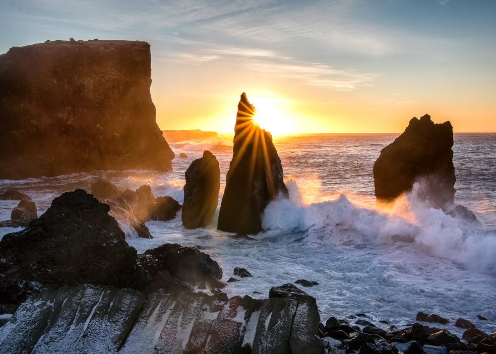 Sunrise Over Sea Stacks