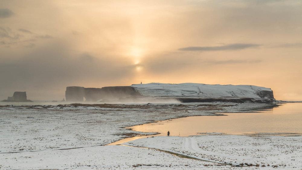 Sunset over Dyrhólaey