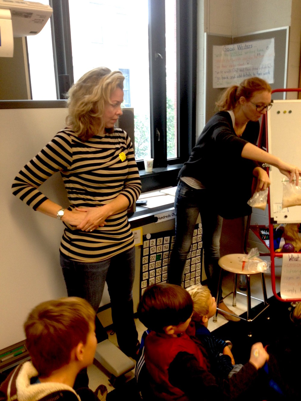 Hands-on Science Demonstrations - Designing and conducting experiments for NYC elementary school students with fellow parent & biologist: Sunniva Stordahl Bjorklund (now in her second career).