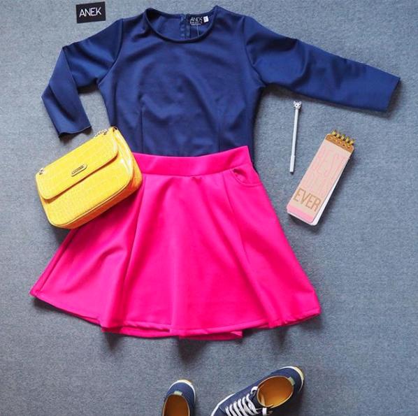Pink skater skirt- Rs. 2000/-
