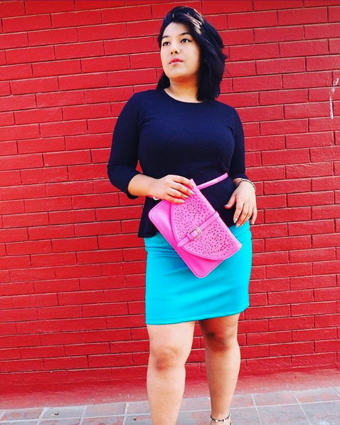 Blue Pencil Skirt - Rs. 1800/-