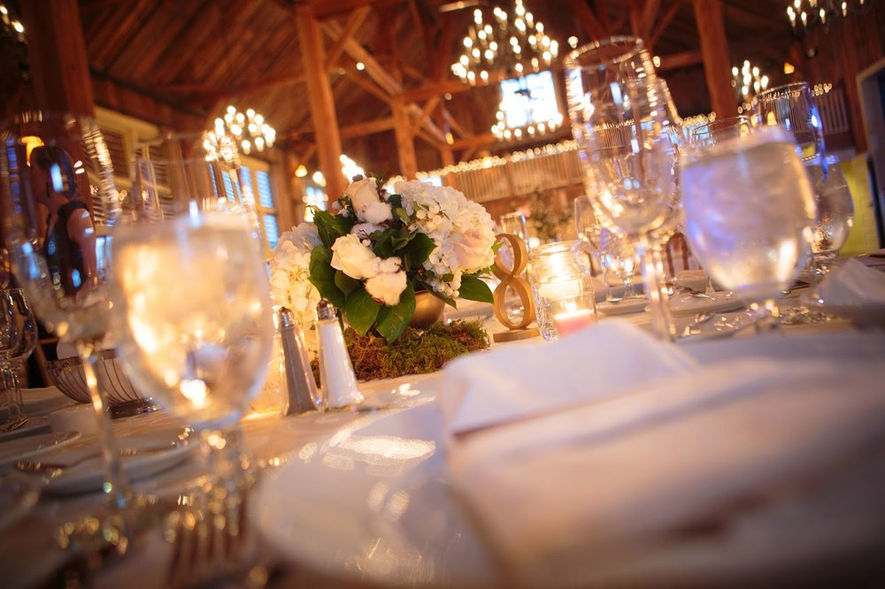 les fleurs : barn at gibbet hill : neutral fall wedding : barn wedding : gold compote, moss, white pumpkins, cotton and fall accents in arangements
