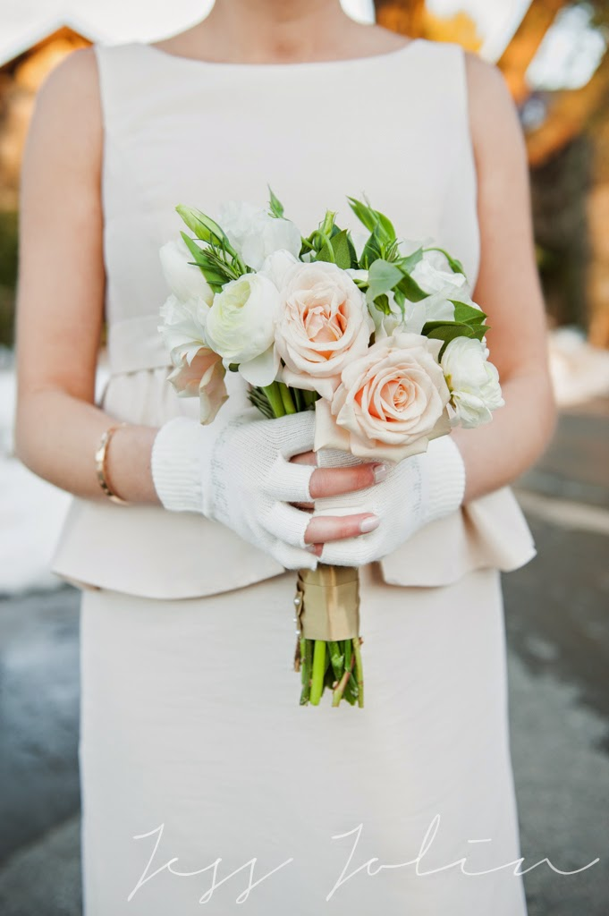 les fleurs : white, champagne, gold & emerald : winter wedding : peplum bridesmaid dresses : jess jolin photography : willowdale estate