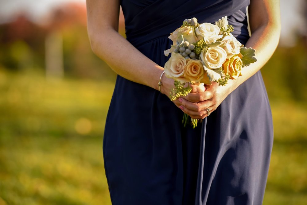 les fleurs : fruitlands : navy bridesmaids : fall tent wedding