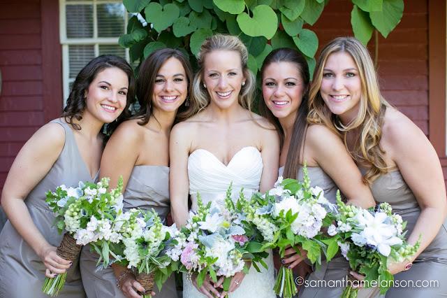 taupe bridesmaids : summer flowers : les fleurs : fruitlands museum : samatha melanson photography