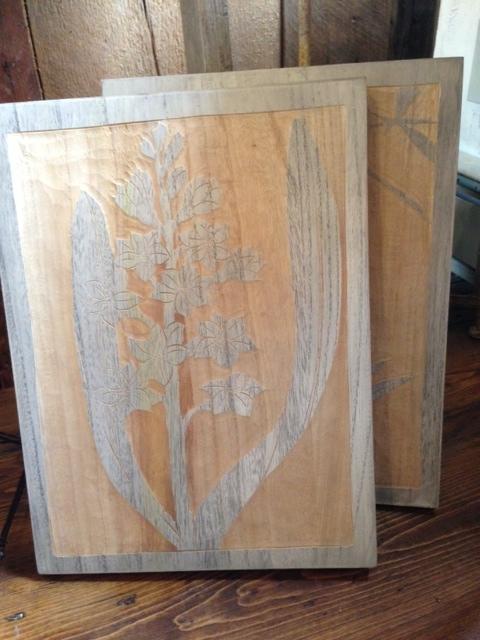 wooden botanical wall art