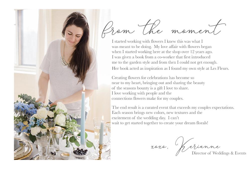 Les Fleurs Andover Director Weddings Events Kerianne