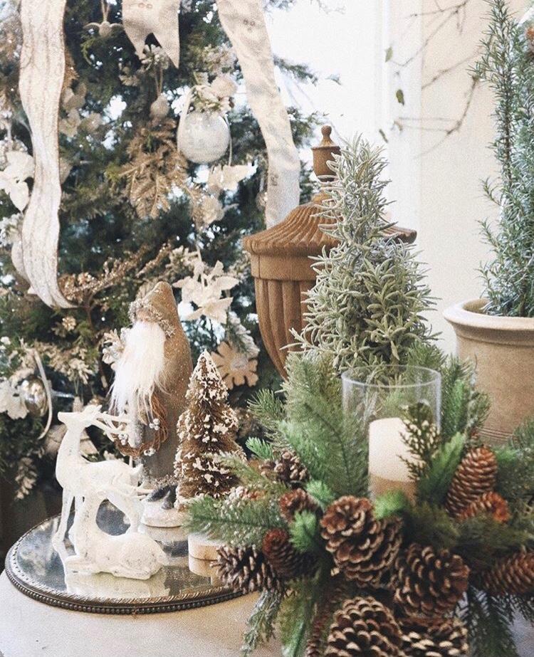 lesfleurs andover holiday open house pine cones reindeer