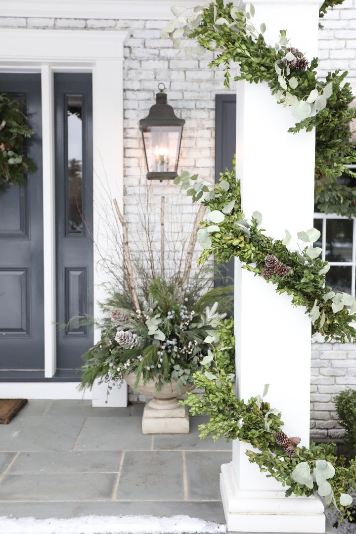 holiday front entrance wreath garland sandra sigman
