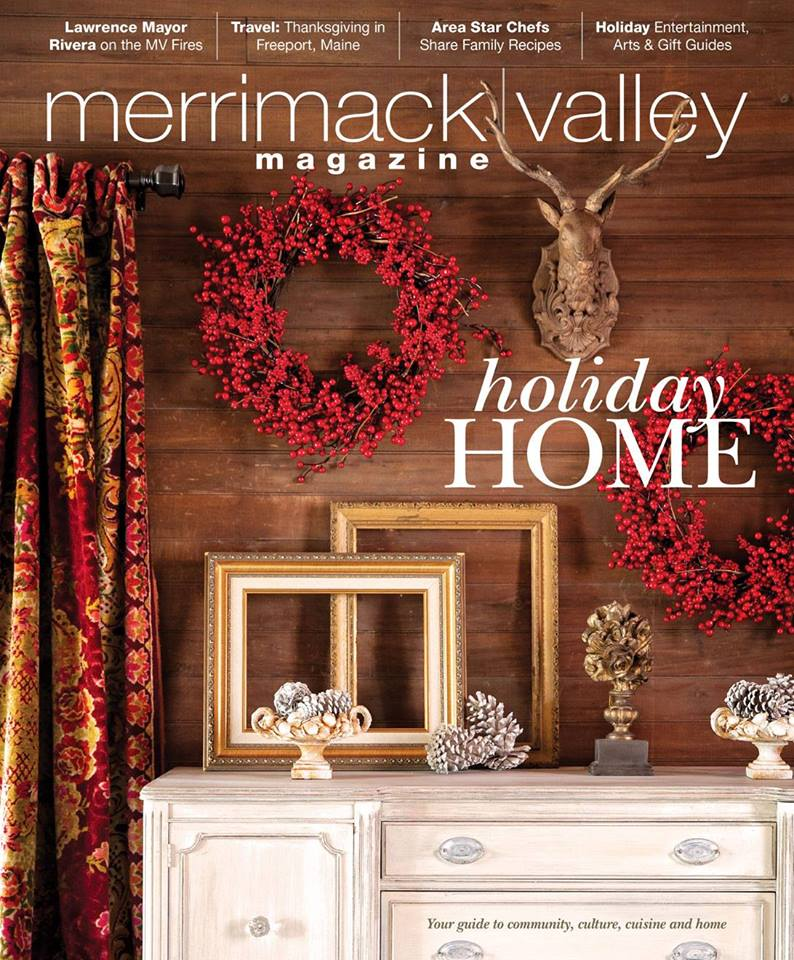 Merrimack Valley Magazine holiday home Les Fleurs Andover MA